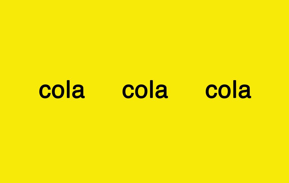 - colacolacola